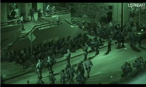 Oakland Police attack and arrest citizens trying to feed the homeless (1/28/2012)