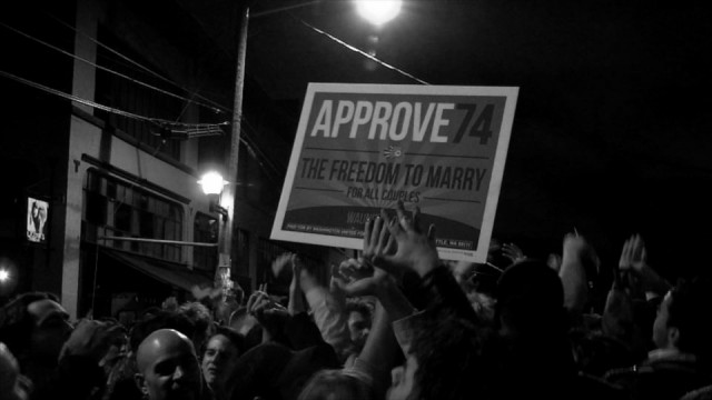 Stepping Forward – An election night street party in Seattle